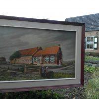 Schilderij met boerderij